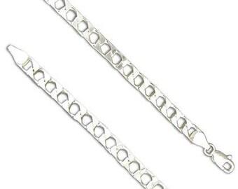 20in Silver Square Curb Chain * Curb Chain * Sterling Silver * Silver Curb Chain * Silver Curb Necklace * Square Curb Necklace * Silver