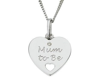 Personalised New Baby Necklace * Sterling Silver * Mum to Be * Perfect for New Mothers