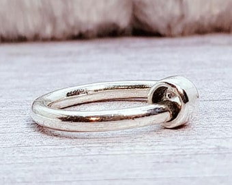 UK N Slim Spinner Ring * Sterling Silver * Boho Ring * Anxiety and Meditation Ring * Worry Ring * Spinning Jewelry * Spin, Fidget Ring