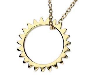 Personalised Sunshine Necklace * Sterling Silver * Sun Pendant * Sun Jewelry * You are my Sunshine * Boho * Celestial Sun * Golden Sun *