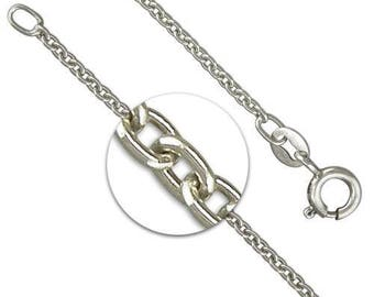 2mm Oxidised Trace Chain * 16 18 20 22 inches * Sterling Silver * Cable Chain