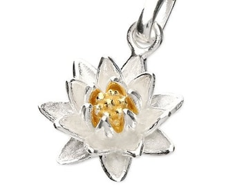 Personalised Lotus Necklace * Sterling Silver * July Birth Flower * Water Lily