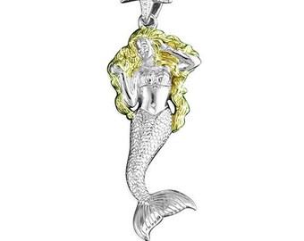 Maya * Mermaid Necklace * Sterling Silver * Mermaid Pendant * Mermaid Jewelry * Mermaid Gift * Fantasy * Mythology * Silver Mermaid *