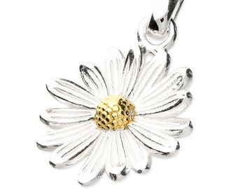 Personalised Daisy Necklace * Sterling Silver * April Birth Flower