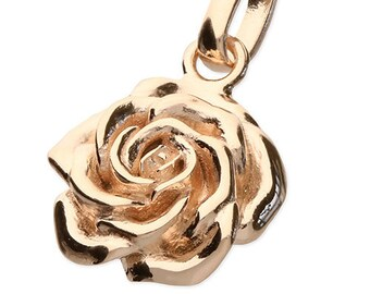 Personalised Rose Necklace * 18ct Rose Gold Vermeil * June Birth Flower