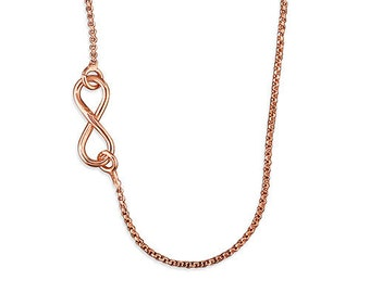 Amy * Infinity Necklace * Sterling Silver * Rose Gold * Anniversary Gift * Infinity Jewelry * Best Friends * Eternal Love * Eternity *