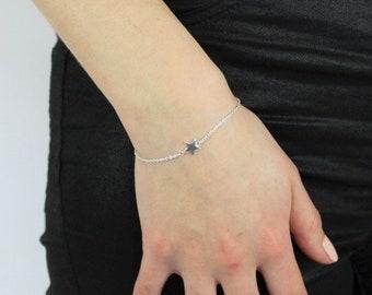 Personalized Sterling Silver Star Bracelet for Women * Delicate and Dainty Boho Bracelet Design *