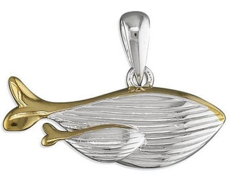 Alejandra * Whale Necklace * Sterling Silver * Ocean Jewelry * Summer Pendant * Beach Holiday * Under the Sea * Whale Jewelry Gift *