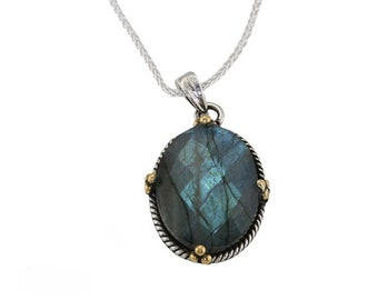 Personalised Labradorite Necklace * Sterling Silver * Labradorite Pendant * Labradorite Jewelry * Organic Labradorite Necklace * Labradorite