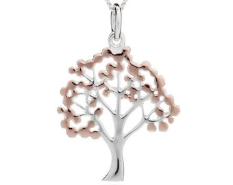 Personalised Cherry Blossom Tree Necklace * Sterling Silver * Tree Pendant * Tree Jewelry * Botanical Gift * Summer * Flower Girl * Woodland
