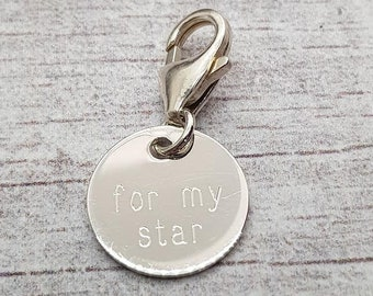 10mm For My Star Disc Charm * Sterling Silver * Ideal for Charm Bracelets *