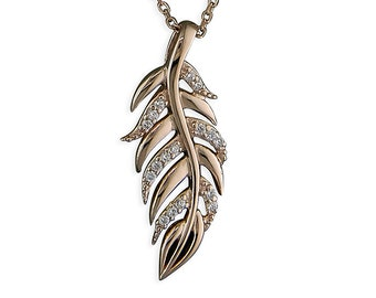 Elsie * Feather Necklace * Sterling Silver * Feather Jewelry * Mixed Metal Feathers * Feather Gift * Boho Pendant * Gold Feathers