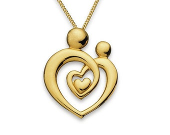 Personalised Mother and Child Necklace * 9ct Gold Vermeil * Perfect for Mothers Day, Birthday, Christmas *
