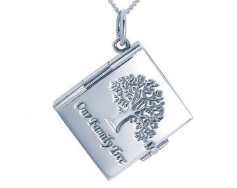 Personalized Sterling Silver Locket Pendant Necklace