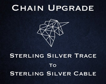 Chain Upgrade to 0.8mm Cable Chain * 14 16 18 20 22 24 28 32 inches * Sterling Silver * Trace Chain