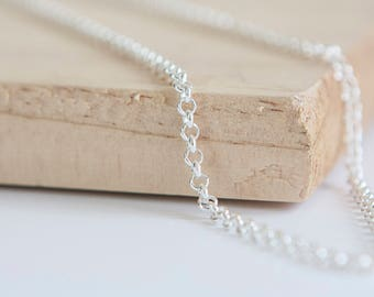 16in Light Rolo Chain * Belcher Necklace Chain * Rolo Chain Jewelry * Silver Rolo Chain * Sterling Silver Anchor Chain Necklace *