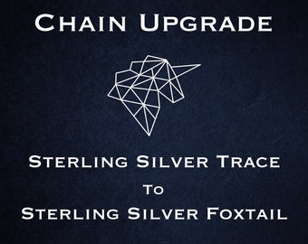 Chain Upgrade to 1mm Twisted Foxtail Chain * 16 18 20 24 inches * Sterling Silver
