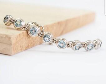Dulcina * Bridal Bracelet * Wedding Bracelet * Bridesmaid Bracelet * Gemstone Bracelet * Tennis Bracelet * Anniversary Bracelet * Birthstone
