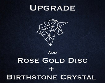 Disc Upgrade - 18ct Rose Gold Vermeil with Birthstone Crystal