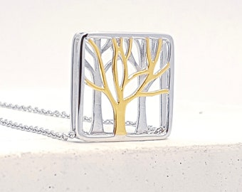 Personalised Tree Of Life Necklace * Sterling Silver * Family Tree * Tree-of-Life * Tree Necklace * Tree Jewelry * Tree Pendant * Gold