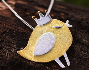 Personalised Robin Necklace * Sterling Silver * Bird Pendant * Dainty * Minimalist * Love * War and Peace * Nature * Woodland * Personalised