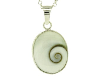 Maja * Shivas Eye Necklace * Sterling Silver * Ocean Jewelry * Summer Pendant * Beach Holiday * Under the Sea * Pacific Cats Eye Gift *