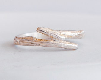 Twig Ring * Sterling Silver * Twig Jewelry * Twig Gift * Rustic Twig * Winter Twig * Frosted Twig * Branch Ring * Branch Jewelry *