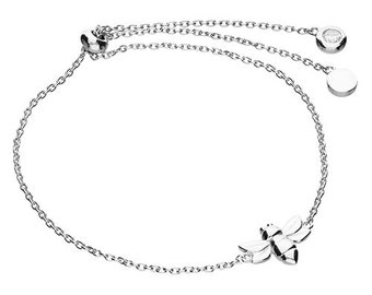 Personalised Bee Slider Bracelet * Sterling Silver * Bumble Bee Gift * Worker Bee Jewelry * Honey Bee * Manchester Bee * Bee Pendant * Queen