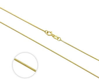 1mm Diamond Cut Snake Chain * 16 18 inches * 9ct Yellow Gold