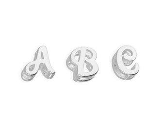 6-8mm Floating Charm Letters * Sterling Silver * Ideal for Floating Charm Lockets *