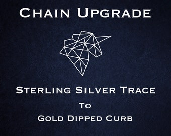 Chain Upgrade to 1mm Curb Chain * 16 18 20 22 24 inches * Yellow Gold Dipped Sterling Silver
