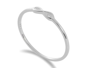 Sterling Silver Dainty Infinity Loop Stacking Ring