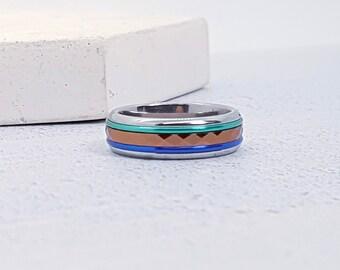 Stainless Steel Spinner Ring Starter Set for Men or Women * 6mm Beach Starter Set