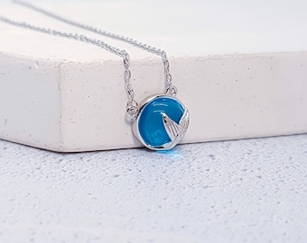 Personalized Sterling Silver Mermaid Necklace for Women or Girls * Fantasy and Mythology Pendant Design