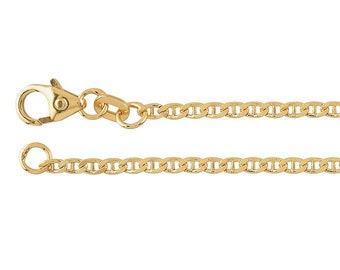 18in Marine Chain * Diamond Cut Anchor * Diamond Cut Jewelry * Gold Marine Chain * 18ct Gold Vermeil * Marine Chain Necklace