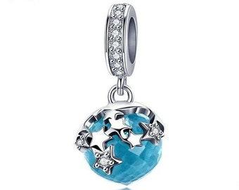 Star Dazzle Charm Bead * Sterling Silver * 4.5mm Inner Diameter * Fits most European Charm Bracelets