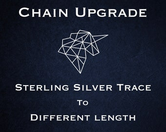 Chain Upgrade to 1mm Trace Chain * 14 16 18 20 22 24 28 inches * Sterling Silver * Cable Chain