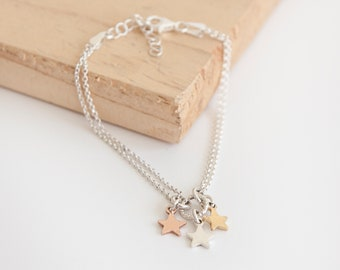 Andromeda * Star Necklace * Sterling Silver * Star Pendant * Shooting Star Jewelry * Make Wish * Lucky Star Gift * Boho Jewelry * Celestial