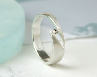 Promise Ring * Sterling Silver * Rose Gold * Boho Jewelry * Minimalist * Dainty * Gift for Her * Promise Ring * Love *