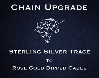 Chain Upgrade to 1mm Cable Chain * 16 18 20 24 inches * Trace Chain * Rose Gold Dipped Sterling Silver
