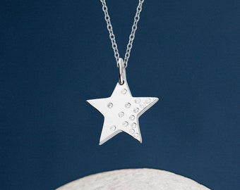 Personalised Sterling Silver I Love You More Than All The Stars Pendant Necklace