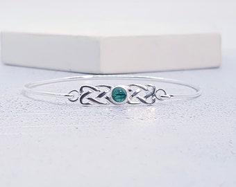 Celtic Bracelet * Sterling Silver * Celtic Gift * Celtic Bangle * Celtic Love Knot * Celtic Jewelry * Celtic Gemstone Jewellery
