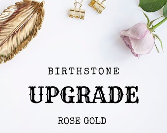 Birthstone Upgrade - 18ct Rose Gold Vermeil