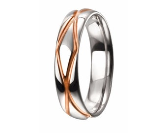 Cable Knit Ring * Sterling Silver * 18ct Rose Gold * Unique Wedding Band * Promise Ring