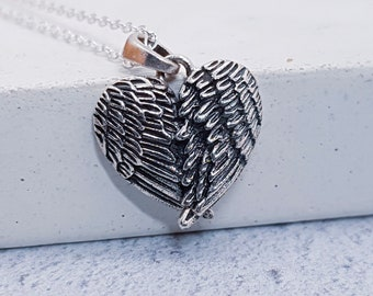 Personalised Angel Wing Necklace * Sterling Silver * Angel Jewelry * Mourning Jewelry * Personalised Gift * Angel Wing Pendant *