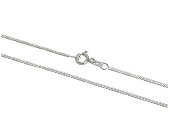 1mm Curb Chain * 16 18 20 24 inches * Sterling Silver