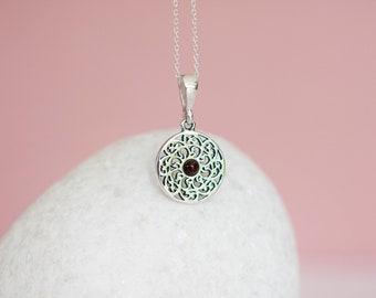 Sterling Silver Celtic Wandsworth Shield Pendant Necklace