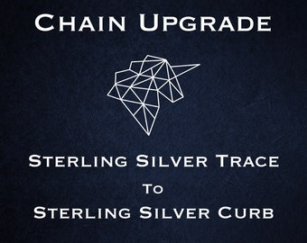 Chain Upgrade to 1mm Curb Chain * 16 18 20 24 inches * Sterling Silver