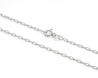 2mm Cable Chain * 16 18 20 24 inches * Sterling Silver * Long Link Trace Chain