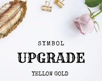 Symbol Upgrade - 18ct Yellow Gold Vermeil